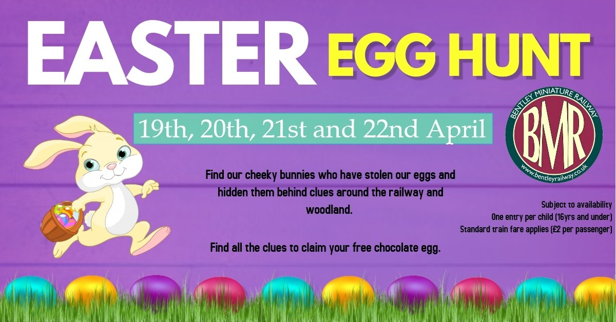 Easter Egg Hunt around the railway 2019