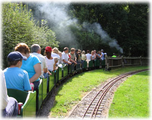 Group booking riding on Bentley Miniature Railway