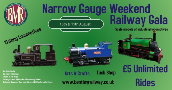 Narrow Gauge weekend 10/11 August 2019