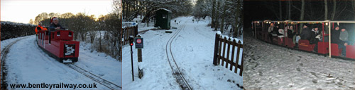 Christmas train rides at Bentley wildfowl