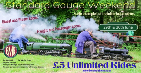 Standard Gauge weekend 29/30 June 2019
