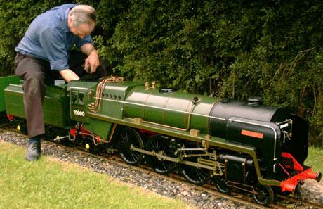 70000 Britannia Loco Bentley Miniature Railway